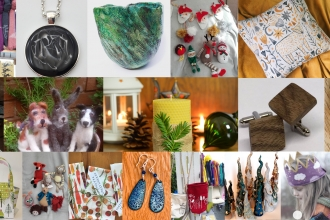 Series of photos featuring crafts available at 2019's craft fair