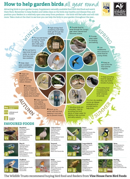 Vine House Farm bird feeding guide