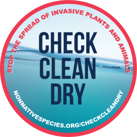 Check Clean Dry - 'sticker' to advertise the CCD message to stop the spread of invasive plants and animals